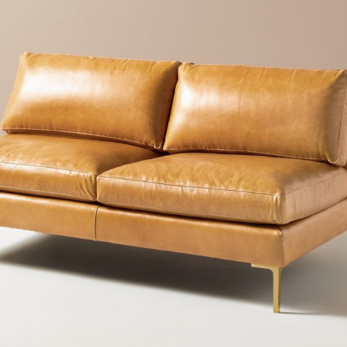 Bowen Modular Leather Armless Sofa