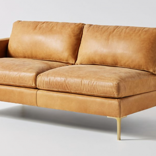 Bowen Modular Leather One Arm Sofa